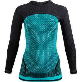 UYN Running Alpha OW Longsleeve Shirt Dames, turquoise/zwart